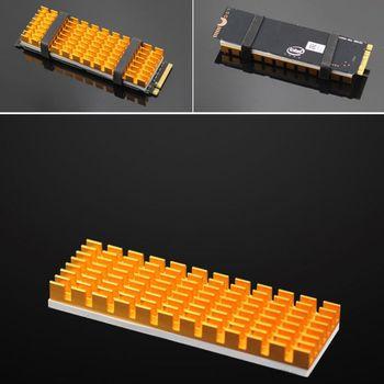 Heatsink Heat Dissipation Aluminum Radiator M.2 NGFF Cooling Heat Sink Heat Thermal Pads for M.2 NGFF 2280 PCI-E NVME SSD AXYF