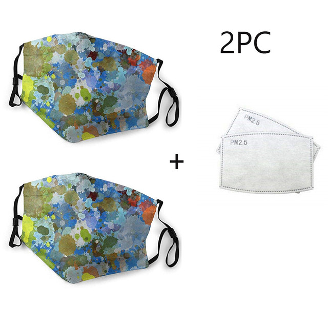 #H30 2pc Women Men Face Mask Washable Dustproof Sun Protect Face Mouth Cover Outdoor Mouth-muffle Anti Pollution Face Mask 1
