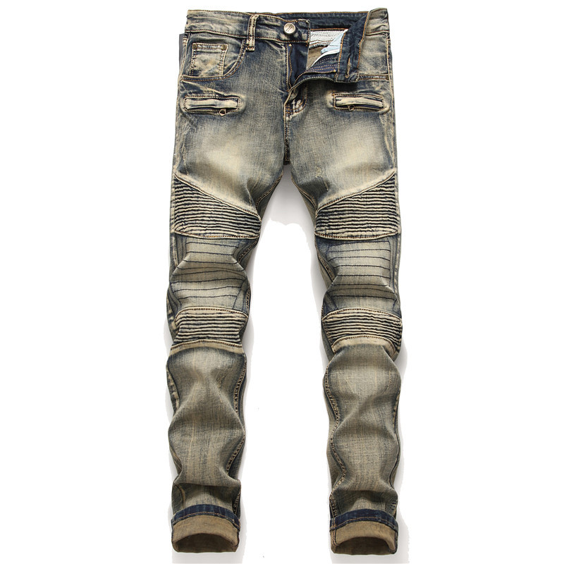 Men Jeans 100 Cotton Classic Spliced Trousers Cool High Quality Fashion Men Jeans Free shipping 1807 in Jeans from Men 39 s Clothing