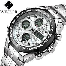 Часы мужские спортивные с хронографосветодиодный и двойным светодиодным