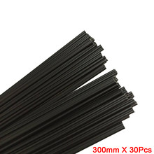 Preto plástico das hastes de soldadura dos pp (2.5mm), bloco de 300mm * 30 pces/fontes triangulares da forma