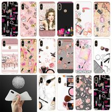 Makeup Lipstick rouge Perfume Soft Case Cover For X
