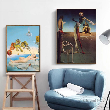 Salvador Dali Surrealism Wall Art Picture Canvas Painting Retro Quadro Posters and Print for Living Room Home Decoration Cuadros 4