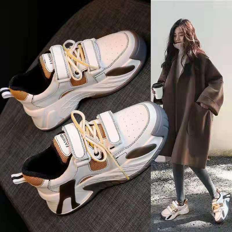 Hot 2020 New Spring Women White Sneakers Women Comfortable Platform High Super  Non-slip Platform High Super  Casual Shoes
