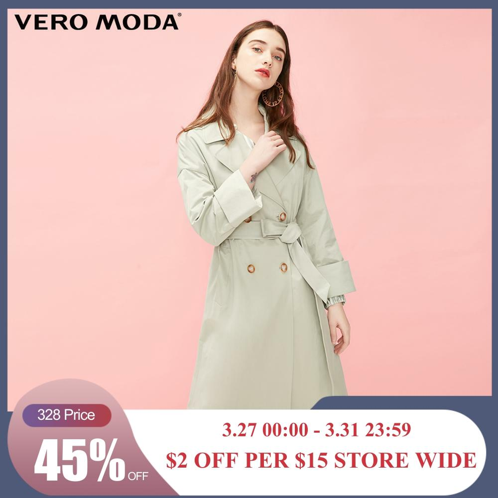 Vero Moda Women's Long Lapel Vintage Trench Coat | 319121530