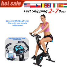 Folding Fitness Bicycle Time Speed Calories Display Spinning Bike Cardio Trainer Fat Burning Lose Weight Indoor Exercise Bike