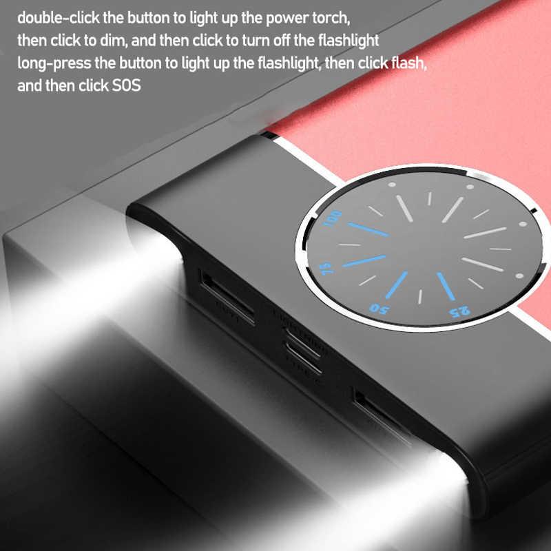 Batería Externa de carga rápida de 80000mAh, gran capacidad, pantalla Digital Dual USB para IPhone Xiaomi Samsung, batería externa portátil 2020