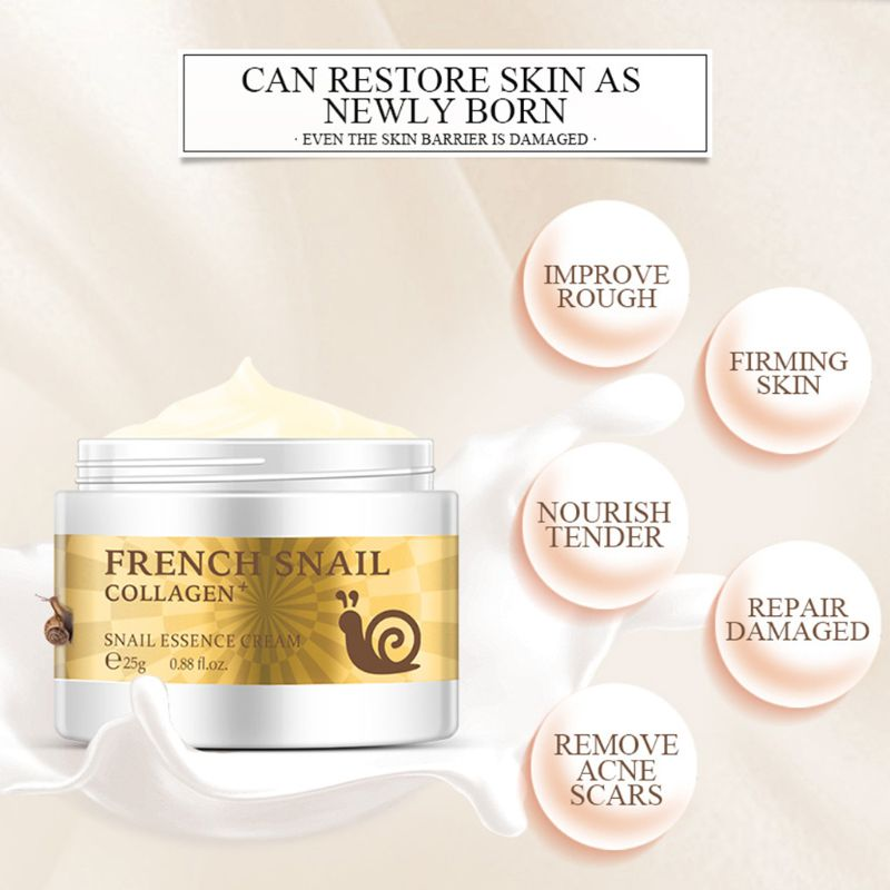 25g Anti Wrinkle Snail Essence Face Cream Hyaluronic Acid Anti-Aging Moisturizing Nourishing Collagen Serum Skin Care Lotion