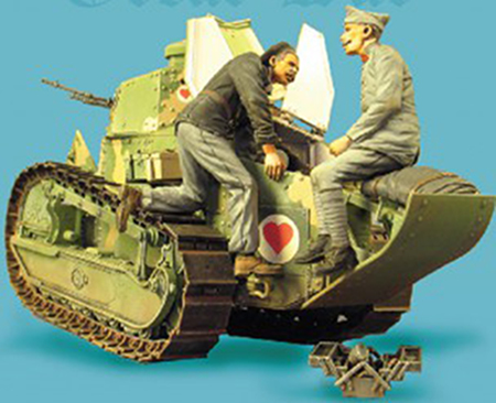 1/35   Ancient Repaires  Crew Include 2 Man (NO TANK )Resin Figure Model Kits Miniature Gk Unassembly Unpainted
