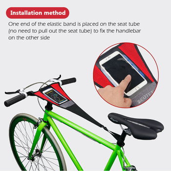 Bike Trainer Sweatbands Home Exercise Training Indoor Cycling Accessories MTB Road Durable Bicycle Sweatband with Touhing Bag image