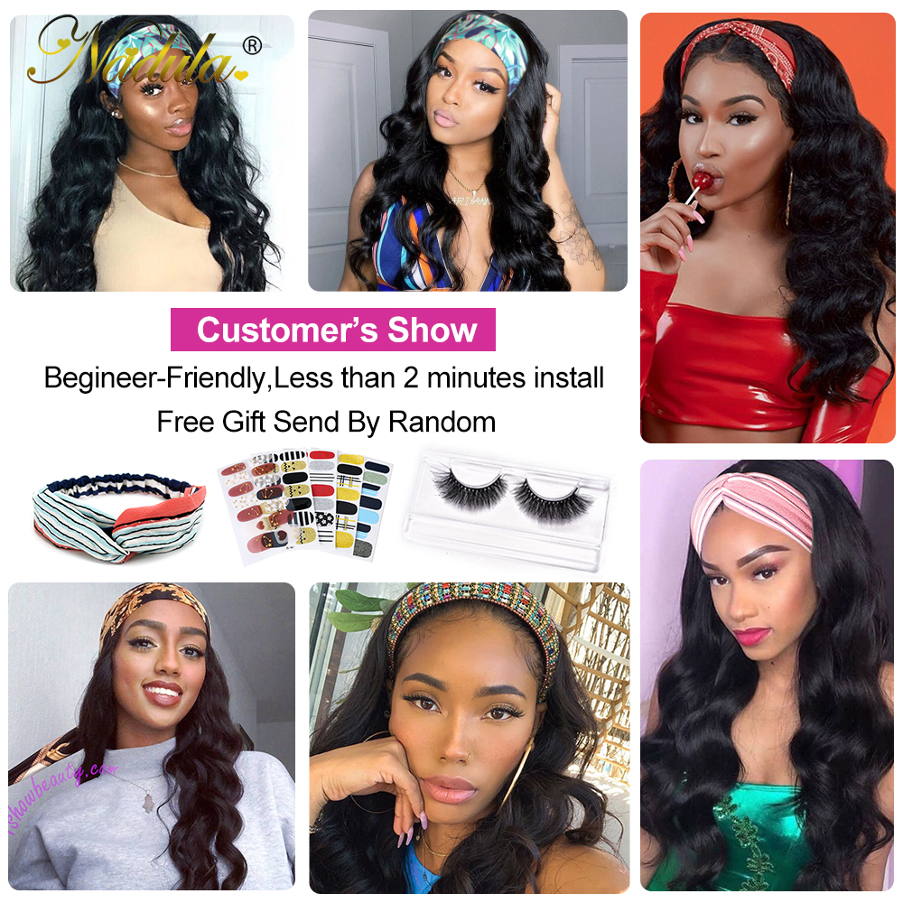 Body Wave Headband Wig No GLUE Headband Wig  for Black Women Nadula Hair Wigs Best and Easiest For Beginners 6