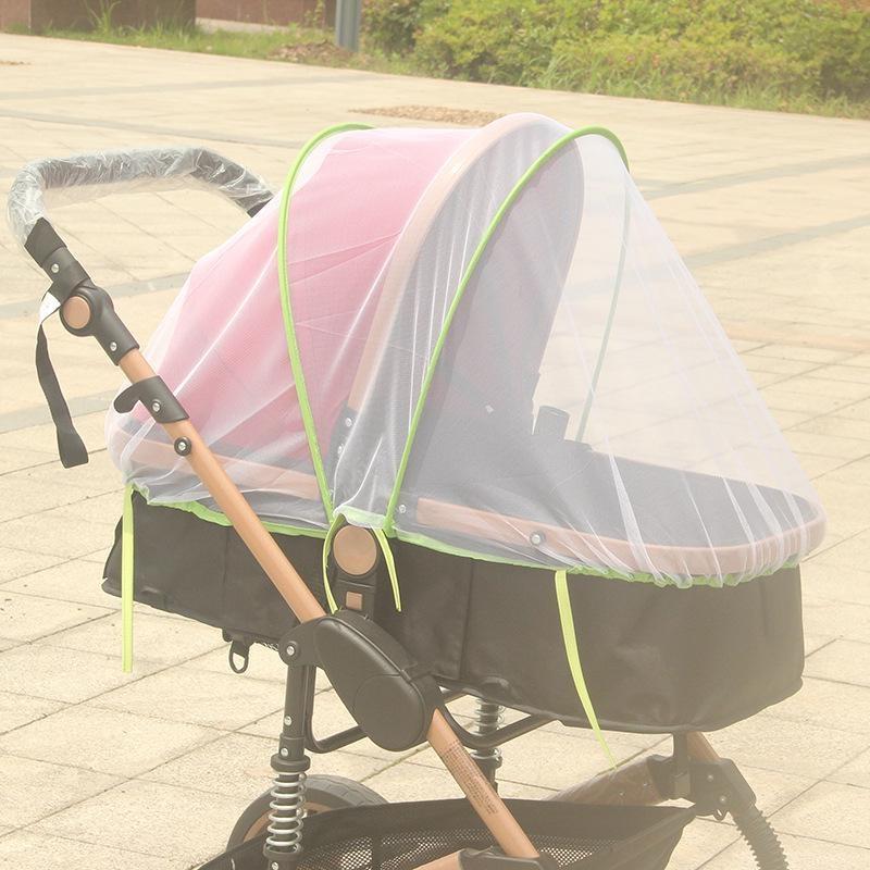 Comfortable new popular rattan pram mosquito net green side trolley