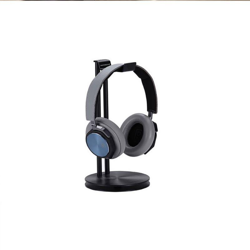 Aluminum Supporting Bar Headphone Stand Solid Base Headset Holder Hanger Black