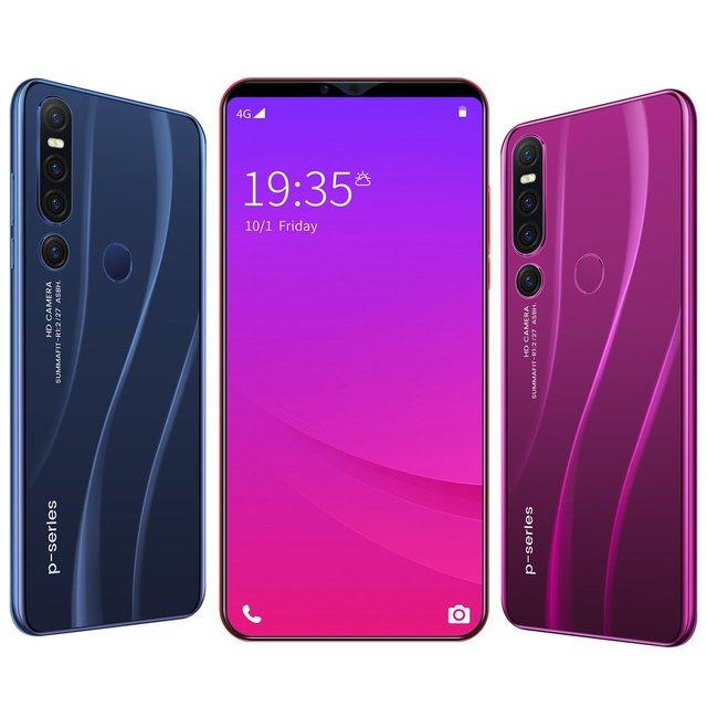 Ue/états-unis nouveau P46 pro Smartphone 1GB + 8GB cellulaire Android 9.1 Handphone Core 6.1 pouces téléphone portable visage reconnaissance dempreintes digitales