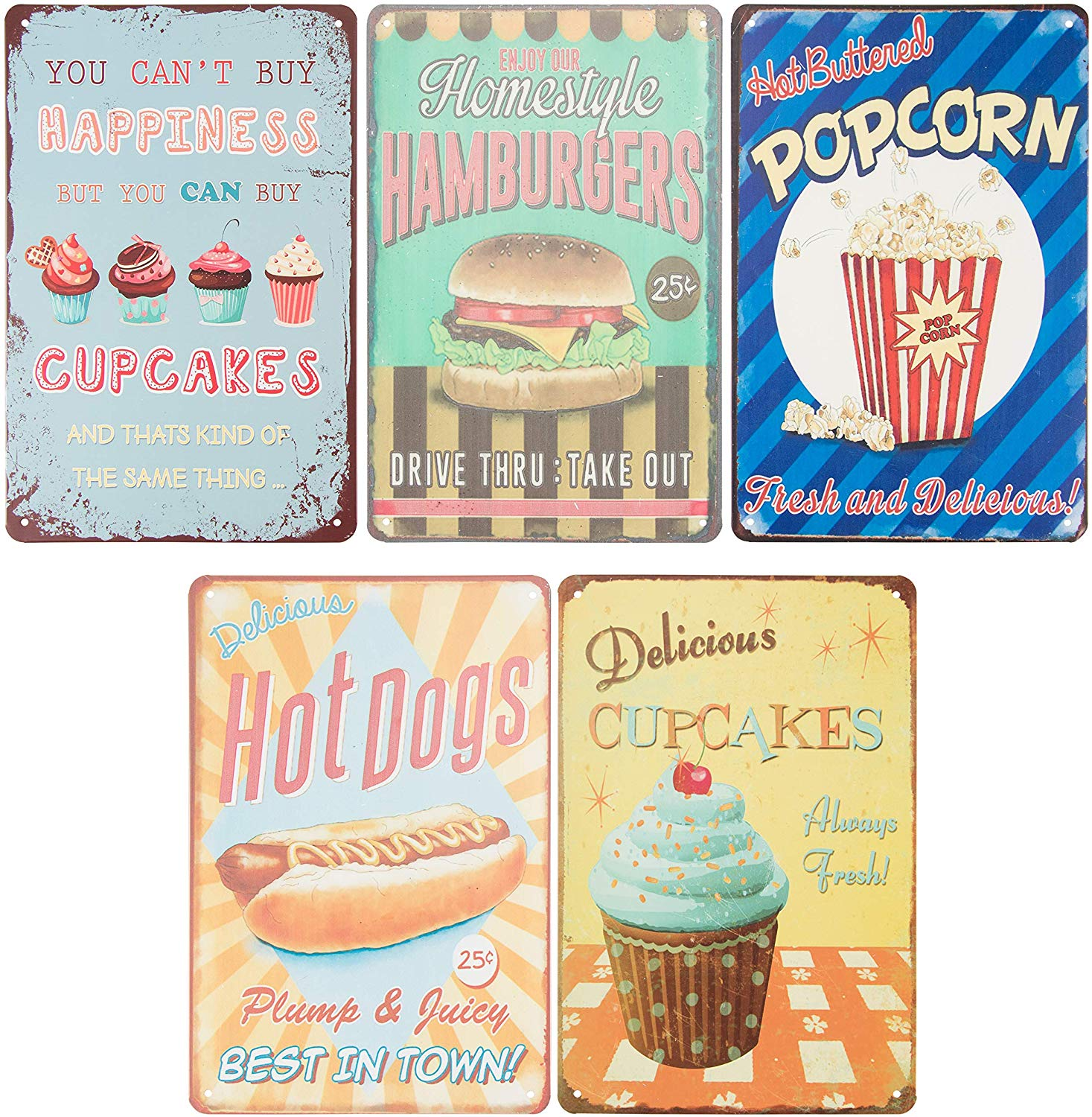 Us 21 06 Vintage Tin Signs Retro Style Metal Signs As Wall Decor Decorative Diner Coffee Bar Kitchen Sign Food And Snacks Theme On Aliexpress