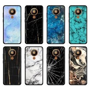 Dark Blue Marble for Phone Case Nokia 2.2 2.3 3.2 4.2 6.2 7.2 1.3 5.3 8.3 2.4 3.4 C3 C5 Endi C2 tenen tava Coque Shell