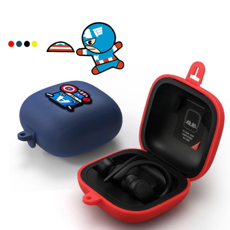 Silicone Full Protective Earphone Case Cover For Powerbeats Pro Earphone Accessories Anti-shock Earphone Cases