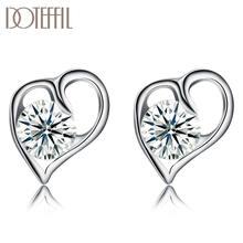 Женские серьги в форме сердца doteffil ювелирные изделия из
