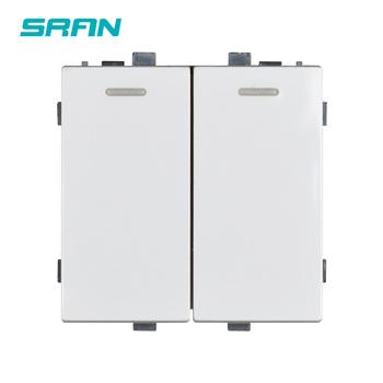 SRAN 52*52 2 gang gniazdo przełącznika funkcja moduł akcesoria nadaje się do 86*86 panele tanie i dobre opinie G081W