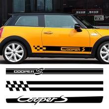 Na boczne drzwi samochodu naklejka naklejka dla Mini Cooper S JCW R53 R55 R56 R57 R58 R59 R60 F54 F55 F56 F60 Clubman Countryman akcesoria samochodowe