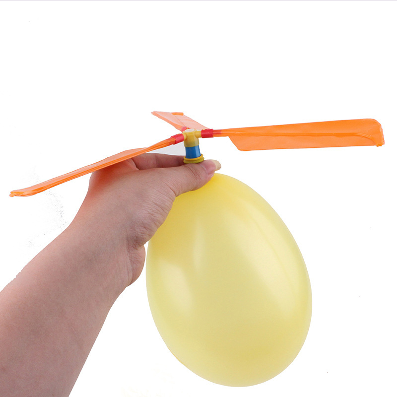 1pcs Fun Physics Experiment Homemade Balloon Helicopter DIY Material Home School Educational Kit Child Gift
