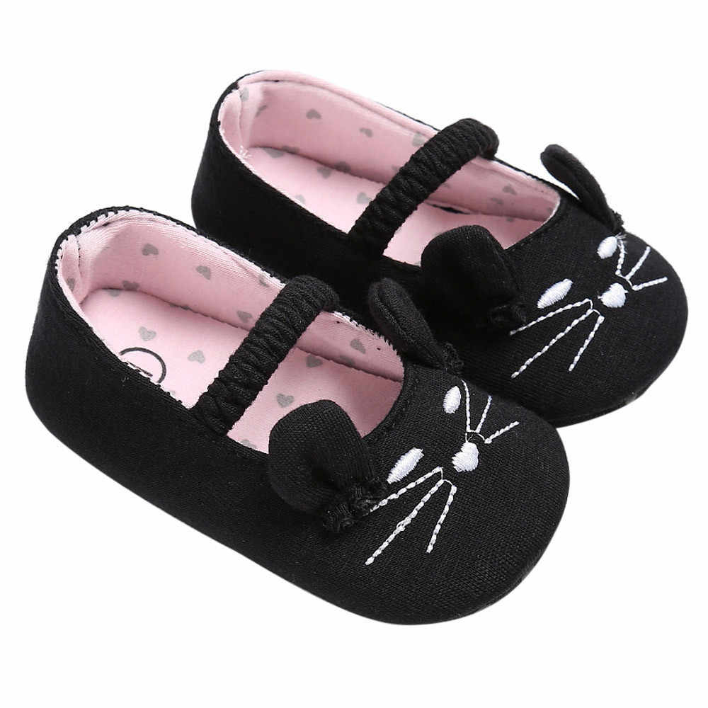 Cute Kids Shoes Fashion 2019  Cute Cat Style Baby Infant Kids Boy Girl Soft Shoes Cat Pattern Crib Toddler Newborn Shoes