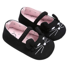 Cute Kids Shoes Fashion 2019 Cute Cat Style Baby Infant Kids Boy Girl Soft Shoes Cat Pattern Crib Toddler Newborn Shoes(China)