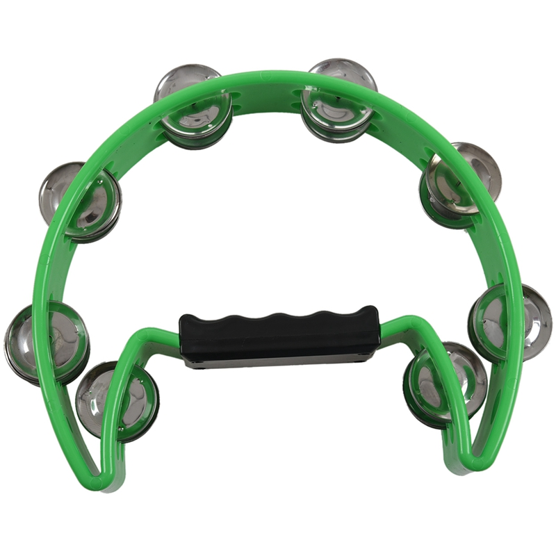 New Single Row Tambourine for Kids and Adults - Comfortable Hand Held Percussion Instrument - Great for Choirs (Church) - Percus