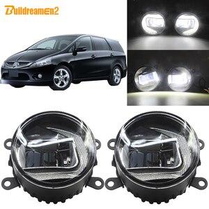 Buildreamen2 2в1 автомобиль 90 мм светодиодный проектор противотуманный светильник + DRL дневные ходовые огни Белый H11 12V для Mitsubishi Grandis 2004-2011