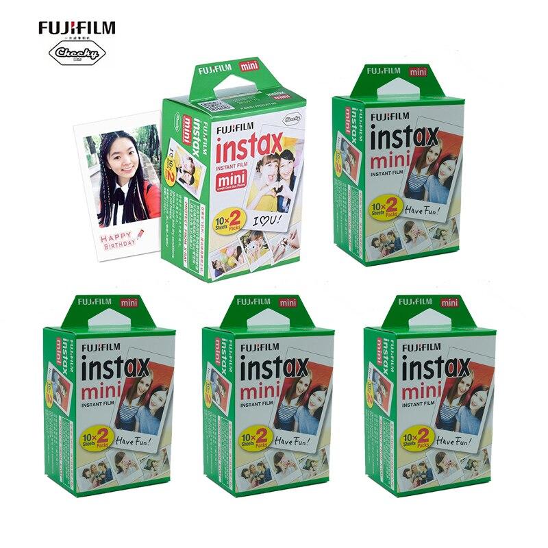 Fujifilm 10-100 листов Fuji Fujifilm Instax Mini белая краевая пленка для мгновенной камеры Mini 8 9 11 7s фотобумага 11 9 3 дюйма
