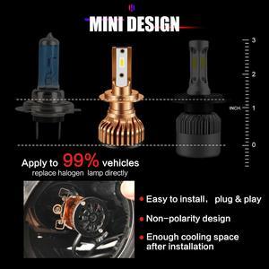 Image 5 - Auto H7 faro led Mini H11 luz LED H4 LED H1 9005 9006 HB3 HB4 H13 9004 9007 lámpara de coche 16000LM 6500K de baja Luz De Carretera Turbo