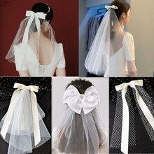 Nova noiva bandana nupcial headwear fita borda arco com grampo de cabelo casamento noiva acessórios de cabelo festa cabeça jóias acessórios