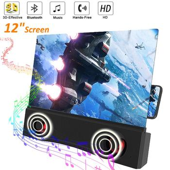 12 inch 3D Phone Screen Magnifier Bluetooth Stereo Speaker HD Video Amplifier Compitable for Mobile Phone HD Eyes Protection 1