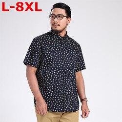 Neue 9XL 8XL plus größe Männer Shirts Marke Drehen unten Kragen Slim Fit Männer Homme Casual Sommer Geschäfts Shirt Herren kurzarm