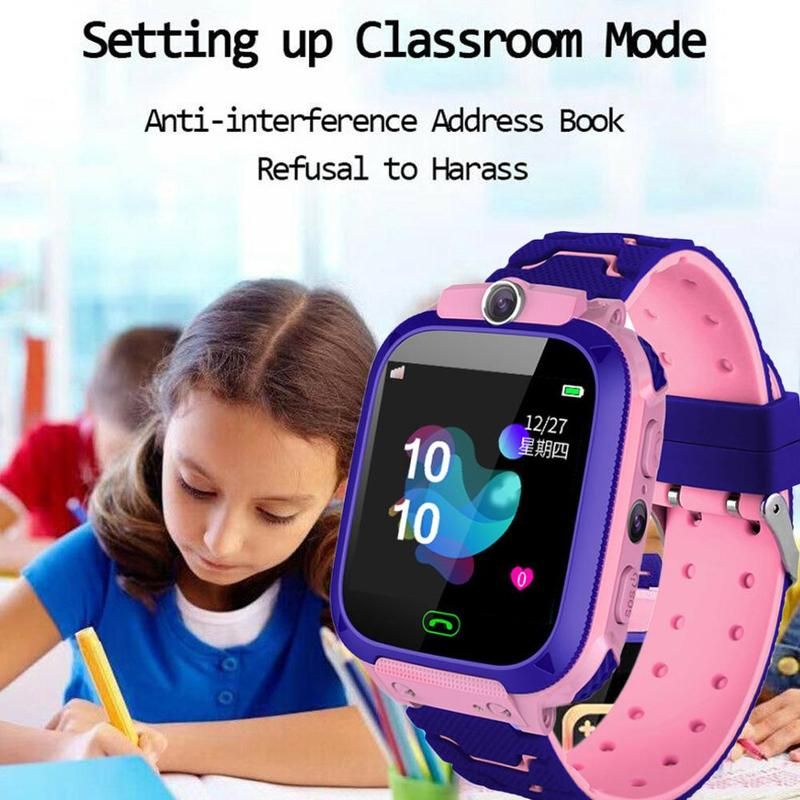 1.54'' Children Positioning Watch Smart Call Watch 7 Days Standby Time With Usb Charging Cable For Android 3.0 And Ios 6.0 Above