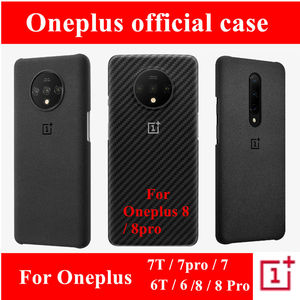 Image 2 - official case for oneplus 8 7 8t pro sandstone silicone carbon fiber official back cover
