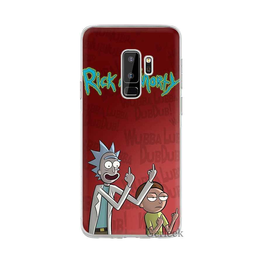 Caixa do telefone Para Samsung Galaxy M10 M20 M30 M40 S6 S7 Borda S8 S9 S10 S10e Plus Nota 8 9 s3 S4 S5 Capa Dura Rick E Morty