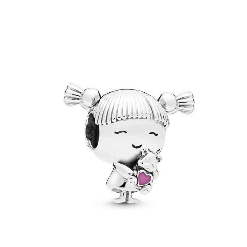 ร้อนขายตุ๊กตาคริสตัล Fox Moon ลิปสติกกล้องโทรทรรศน์ดอกไม้หัวใจลูกปัด Pandora Charms สร้อยข้อมือผู้หญิง DIY เครื่องประดับ