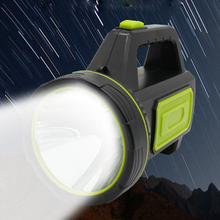 Portable Outdoor LED Flashlight with Side Light Home Camping Fishing Emergency Glare Waterproof Flashlight USB Fast Charging multi function flashlight usb charging mini portable self defense led flashlight with cigarette lighter home car emergency tool