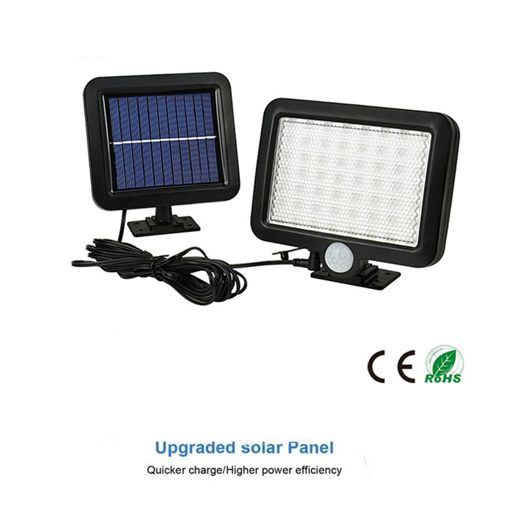 56/30 LED Outdoor LED Solar Power Street Wall Lamp PIR Motion Sensor Garden Security Lamp Waterproof IP65 Wireless Wall Lights S