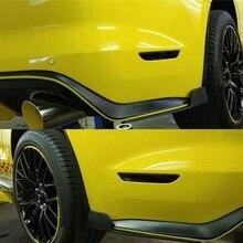 Для Ford Mustang боковая надрезаемая подкладка, abs боковая юбка обернута вокруг небольшого угла