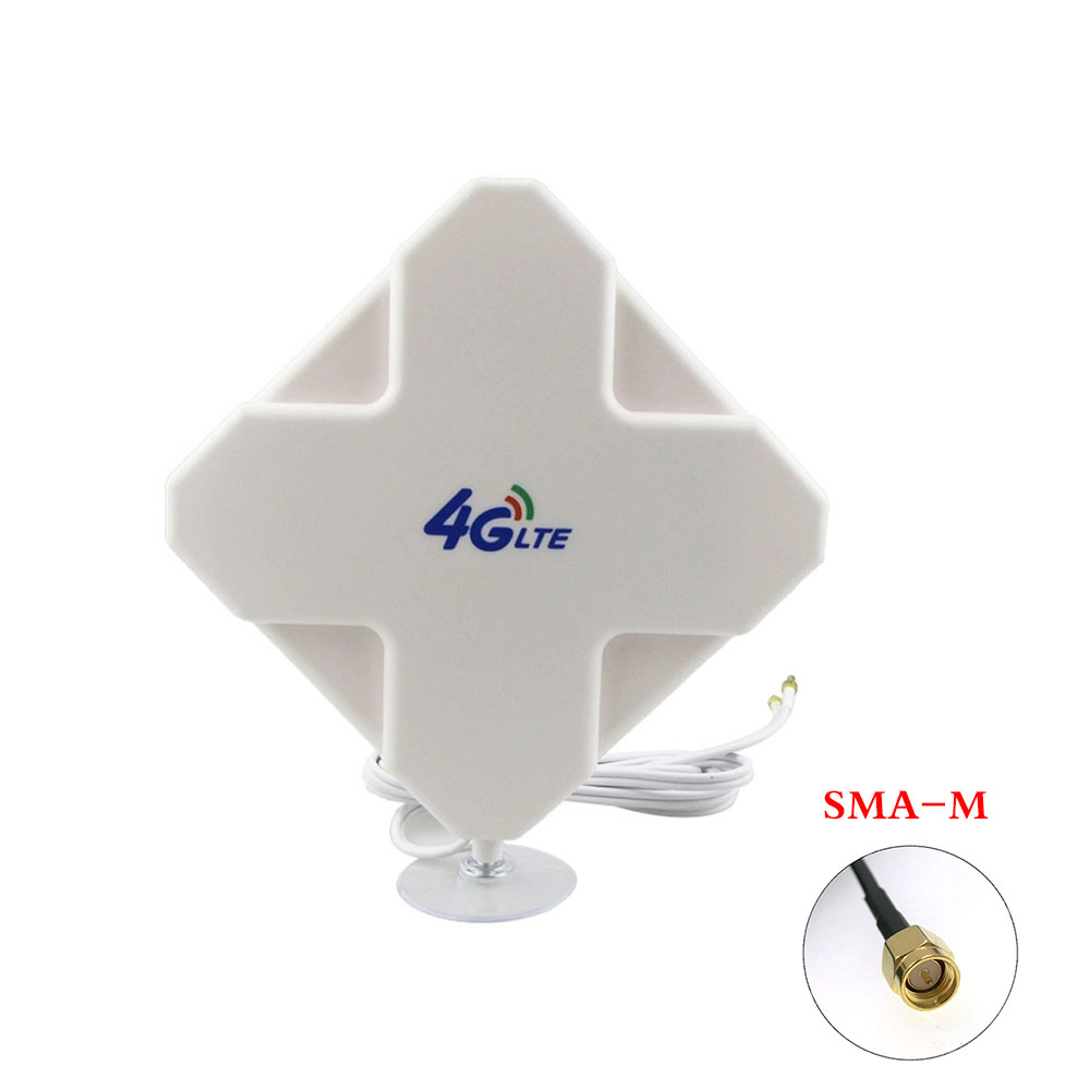 Hi-Gain 3G 4G LTE Outdoor 28dBi Directional Wide Band MIMO Antenna 700-2700MHz 3 Meters RG174 Panel Antenna