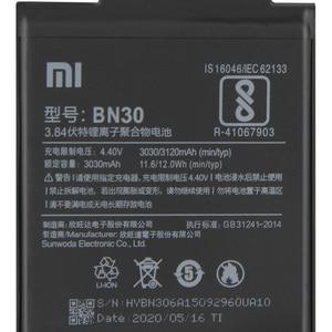 Image 4 - Bateria de substituição original bn30 de xiao mi para xiaomi mi redrice hongmi 4a telefone autêntico bateria 3120mah