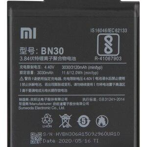 Image 4 - Xiao Mi orijinal yedek pil BN30 Xiaomi Mi Redrice Hongmi 4A otantik telefon pil 3120mAh