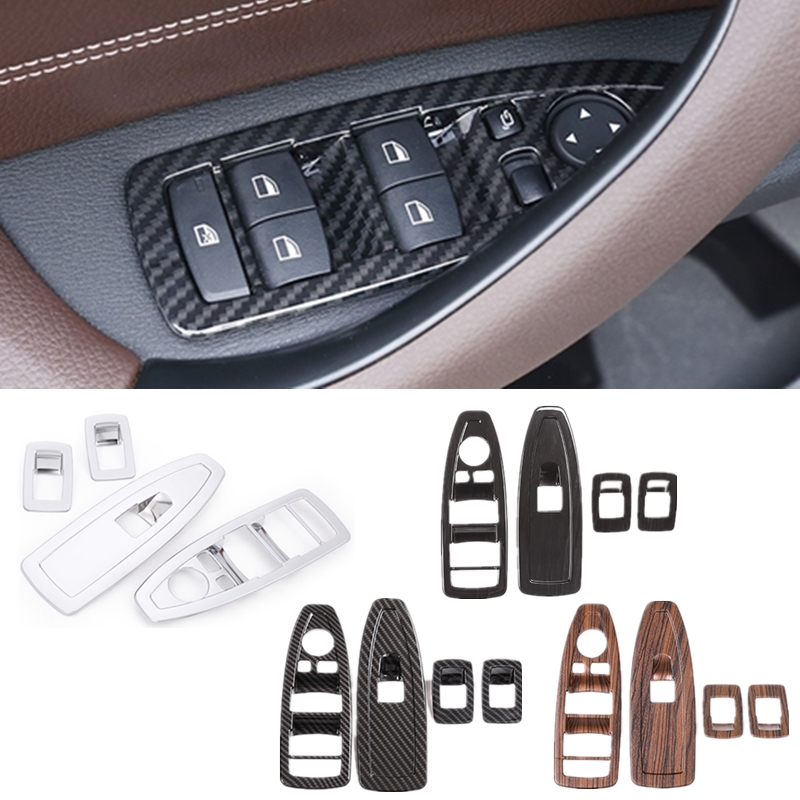 4pcs Car Window Glass Lifting Buttons Frame For BMW  X1 X3 X5 F10 F01 F11 F20 F30 F31 E34 E36 E70 E87 E39 E60 E46 E91 E92 Badge