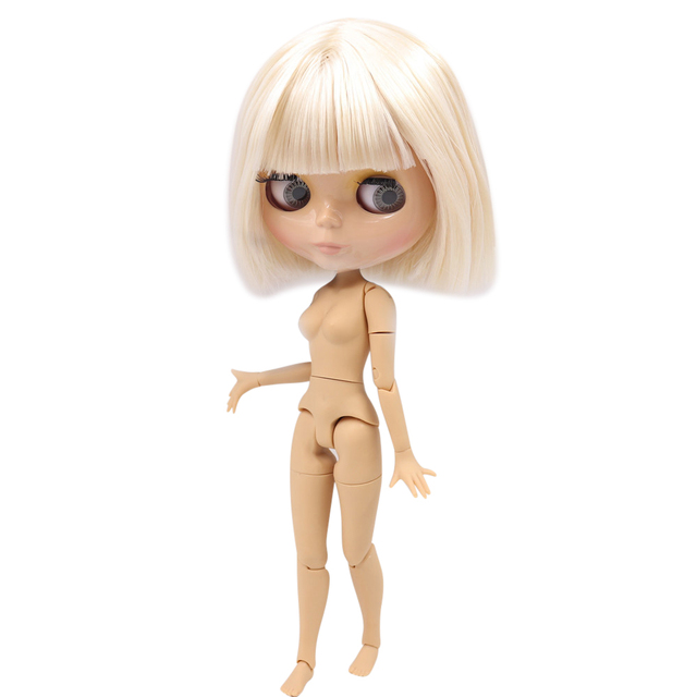 ICY DBS Blyth doll 1/6 joint body white and super dark skin 30 cm BJD frosted face or glossy face DIY fashion doll girl