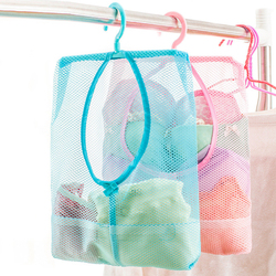 Hanging Storage Bag Bathroom Soap Towel Debris Draining Mesh bag Organizer Balcony Socks Underwear Drying Clothes Basket