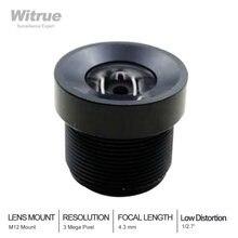 "Witrue 3mp 43mm lens 1/27"" ir micro distortion f25 m12"