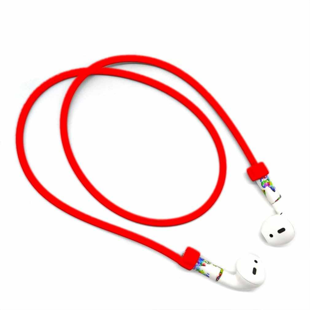 Earphone Strap For AirPods Wireless Headset Silicone Loop String Rope Anti-Lost For Apple Air Pods Accessories 8 colors