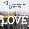 3D English Letters Wooden Wall Stickers Decorative Wood Words Name DIY Sticker for Wedding Birthday Party Decals 11cm Home Decor 1